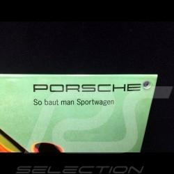 Plaque émaillée Porsche 928 GTS Rouge Indien 40 x 60 cm PCG00092810 Enamel plate Emailleschild