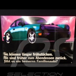 Porsche Enamel plate 911 Carrera type 964 green 40 x 60 cm PCG00096420