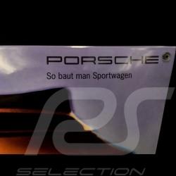 Plaque émaillée Porsche 911 Cabriolet type 964 Jaune 40 x 60 cm PCG00096410 Enamel plate Emailleschild