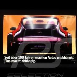 Plaque émaillée Porsche 911 Carrera 4 type 964 Jubilé 40 x 60 cm PCG00096430 Enamel plate Emailleschild  Jubilee Jubilaumsmodel