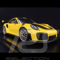 Porsche 911 GT2 RS type 991 Weissach Package jaune / noir 1/18 Spark WAP0211520J yellow / black gelb / schwarz