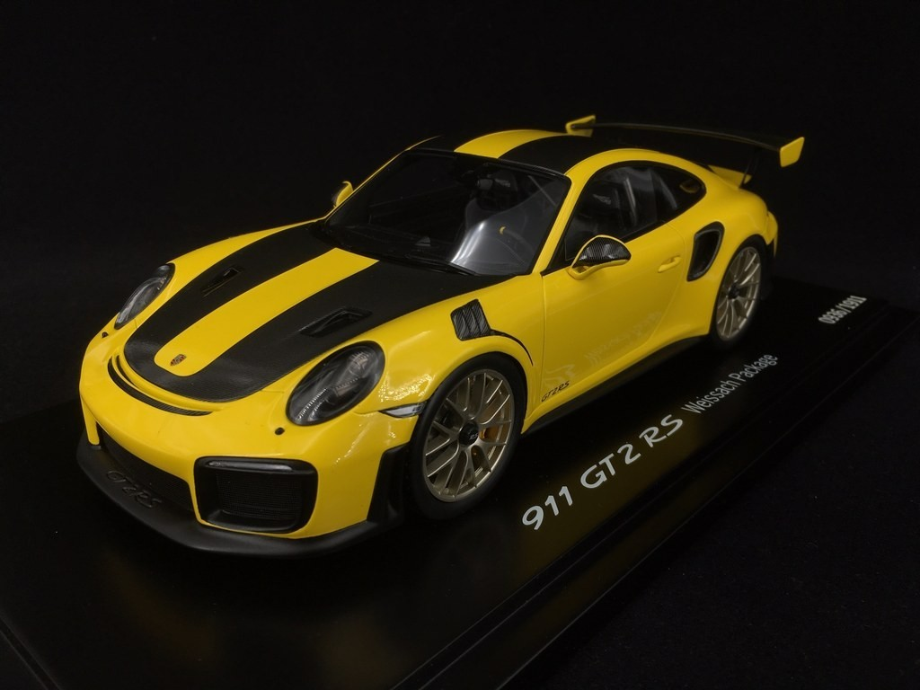 Copy No 11 1911 Porsche 911 Gt2 Rs Type 991 Weissach Package Yellow Black 1 18 Spark Wap0211520j Selection Rs