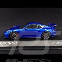 Porsche 911 GT3 type 991 2017 sapphire blue 1/43 Minichamps 413066024