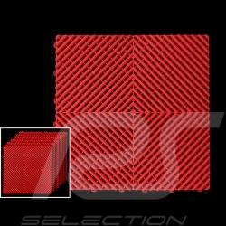 Dalle de garage Premium Couleur Rouge RAL3020 Fabrication allemande - garantie 20 ans - Lot de 6 dalles de 40 x 40 cm