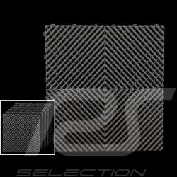 Dalle de garage Premium Couleur Gris anthracite RAL7016 Fabrication allemande - garantie 20 ans - Lot de 6 dalles de 40 x 40 cm