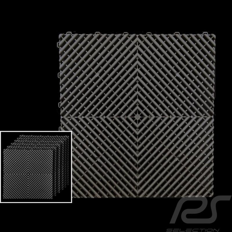 Premium-Garagenplatten Farbe Anthrazitgrau RAL7016 Deutsche Herstellung - 20 Jahre Garantie - Satz mit 6 Platten von 40 x 40 cm