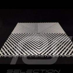 Dalle de garage Premium Gris aluminium foncé RAL9007 Fabrication allemande - garantie 20 ans - Lot de 6 dalles de 40 x 40 cm flo