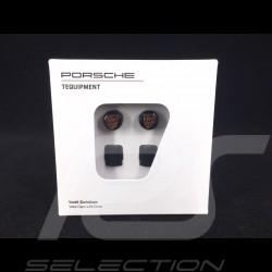 Bouchon de valve Porsche noir / logo couleur - lot de 4 - Porsche Original 99104460266 valve cap ventilkappen