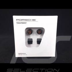 Porsche ventilkappen schwarz / Farblogo - 4er-Set - Porsche Original 99104460266