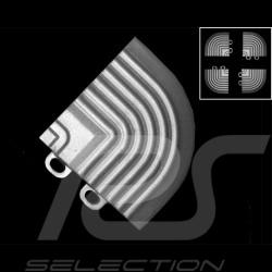 Angle de jonction de rampes inclinées pour dalles de garage premium - couleur Gris alu clair RAL9006 - lot de 4