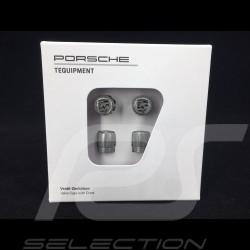 Porsche valve cap grey / grey logo - set of 4 - Porsche Original 99104460268