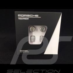 Porsche ventilkappen grau / grau logo - 4er-Set - Porsche Original 99104460268