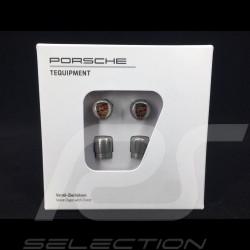 Porsche valve cap grey / color logo - set of 4 - Porsche Original 99104460269