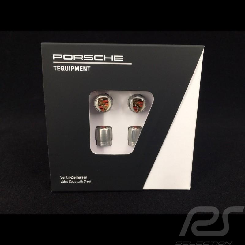 Porsche ventilkappen grau / Farblogo - 4er-Set - Porsche Original 99104460269