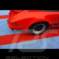 Dalle de garage Premium Gris aluminium clair RAL9006 Fabrication allemande - garantie 20 ans - Lot de 6 dalles de 40 x 40 cm