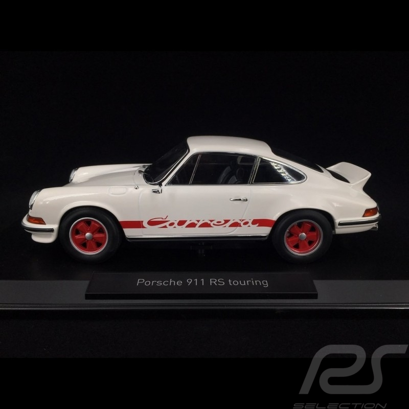 Porsche 911 Carrera RS 2.7 Touring 1973 blanche / rouge 1/18 Norev 187639
