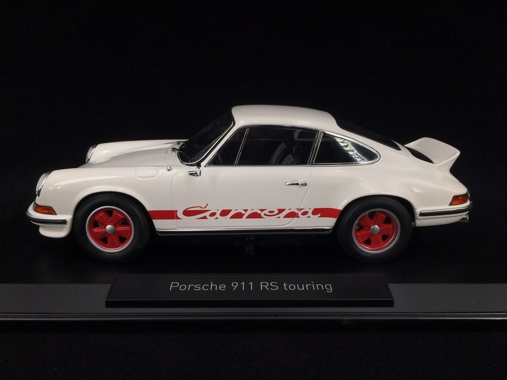 Porsche 911 Carrera Rs 2 7 Touring 1973 White Red 1 18 Norev 187639 Selection Rs