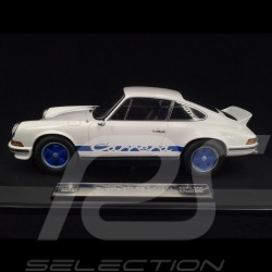 Porsche 911 2.7 Carrera RS 1973 blanche / bandes bleues exemplaire n° 74 / 200 1/18 Norev 187637