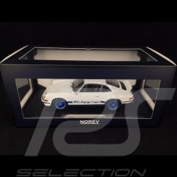 Porsche 911 2.7 Carrera RS 1973 weiß / Blaue Streifen Kopieren n° 75/ 200 1/18 Norev 187637