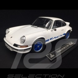 Porsche 911 2.7 Carrera RS 1973 blanche / bandes bleues exemplaire n° 75 / 200 1/18 Norev 187637