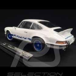 Porsche 911 2.7 Carrera RS 1973 white / blue stripes copy n° 77 / 200 1/18 Norev 187637