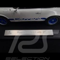 Porsche 911 2.7 Carrera RS 1973 weiß / Blaue Streifen Kopieren n° 77 / 200 1/18 Norev 187637