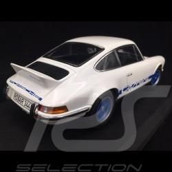 Porsche 911 2.7 Carrera RS 1973 weiß / Blaue Streifen Kopieren n° 9 / 200 1/18 Norev 187637