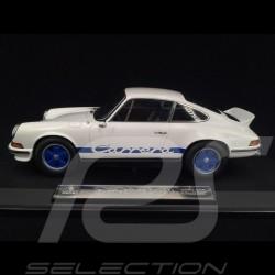 Porsche 911 2.7 Carrera RS 1973 blanche / bandes bleues exemplaire n° 11 / 200 1/18 Norev 187637