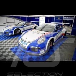 Dalle de garage Premium Bleu Marine Pantone295C Fabrication allemande - garantie 20 ans - Lot de 6 dalles de 40 x 40 cm floor ti