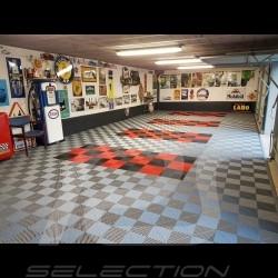 Garage floor tiles Premium quality Gulf Blue Pantone297C German-made - 20 years warranty - Set of 6 tiles of 40 x 40 cm
