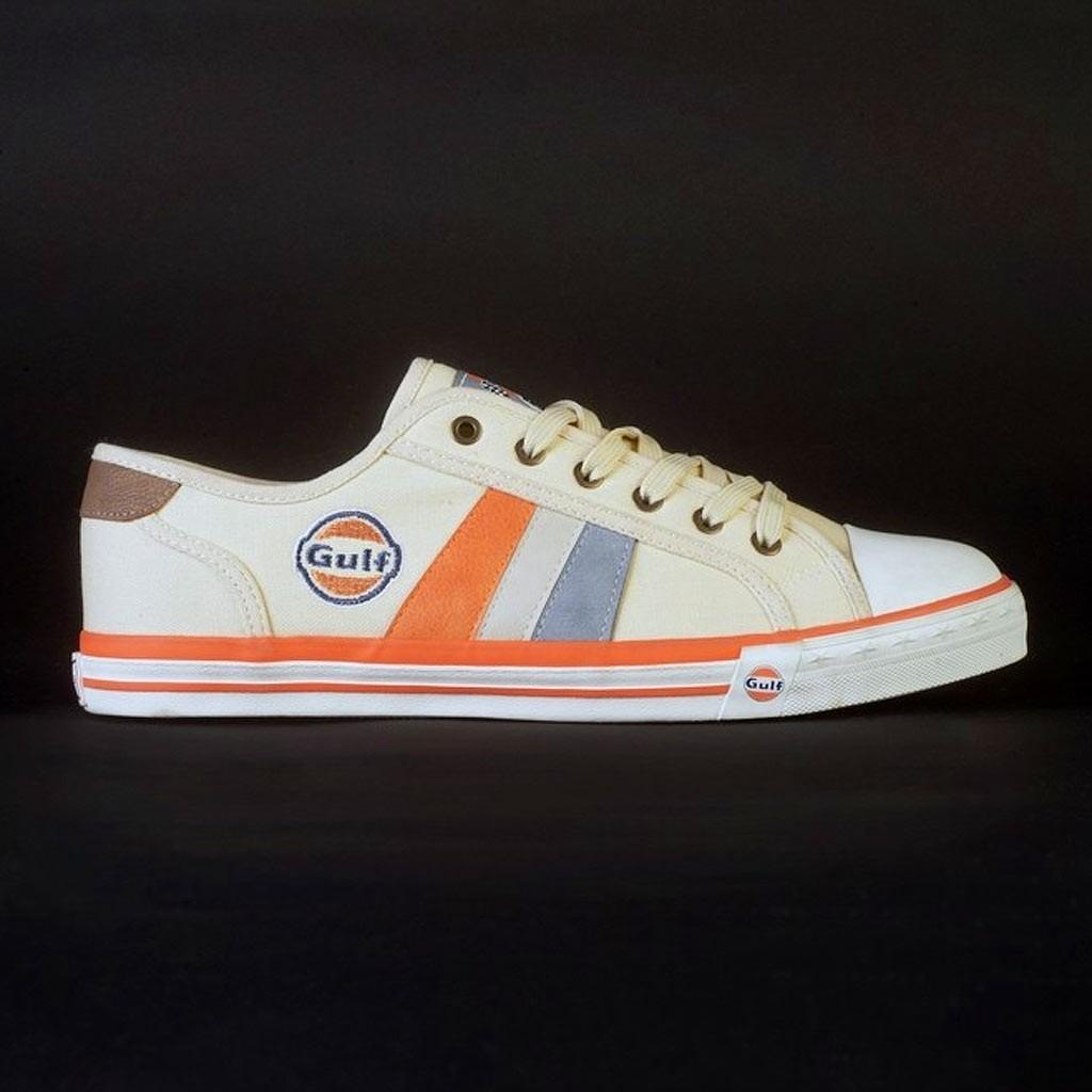 chaussures style converse orange