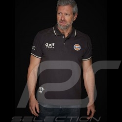 Gulf Le Mans victory Vintage Polo Charcoal grey - men