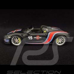 Porsche 918 Spyder 2015 n° 15 noir mat Martini racing Weissach Package Record Nürburgring 2013 1/18 Minichamps 110062445