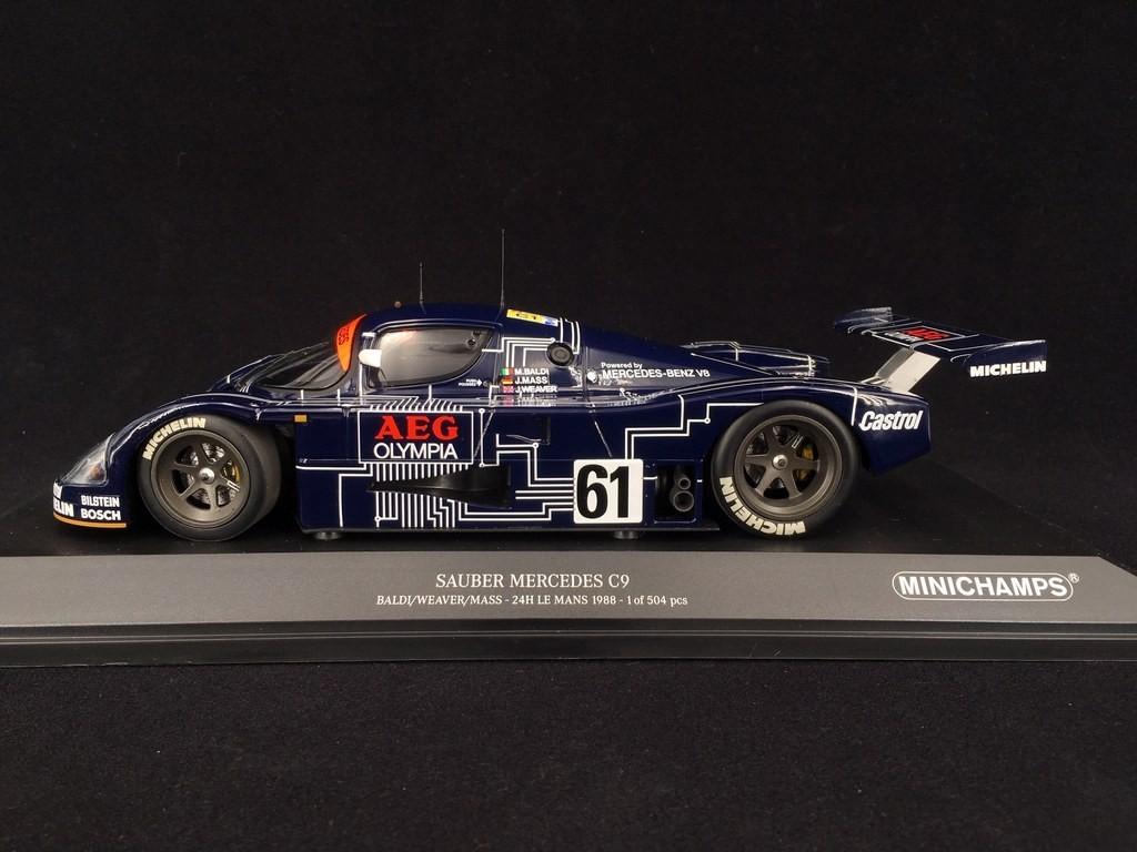 Minichamps 1:18 155883561 1988 Sauber-Mercedes C9 24h LeMans #61 NEU!