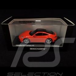 Porsche 911 Carrera 4S typ 992 2019 lavaorange 1/43 Minichamps 413069338