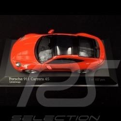 Porsche 911 Carrera 4S type 992 2019 orange fusion 1/43 Minichamps 413069338 lava orange lavaorange
