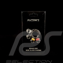 Set of 4 wine glass charms Brake discs Autoart 40332