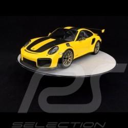 Plateau de présentation rotatif 25.5 cm pour modèles 1/18 Argent Qualité premium Autoart 98015