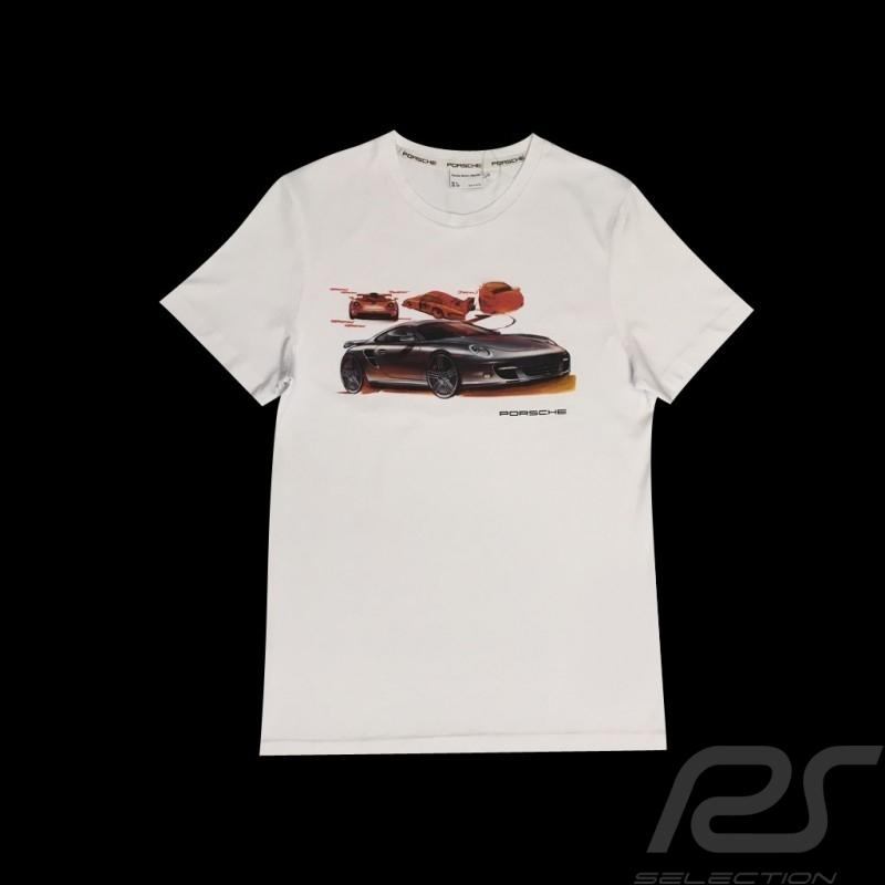 T-shirt Porsche 911 drawing white Porsche WAP918K0SR - men