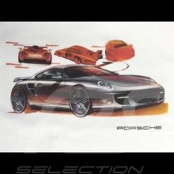 T-shirt Porsche 911 dessin blanc Porsche WAP918K0SR - homme