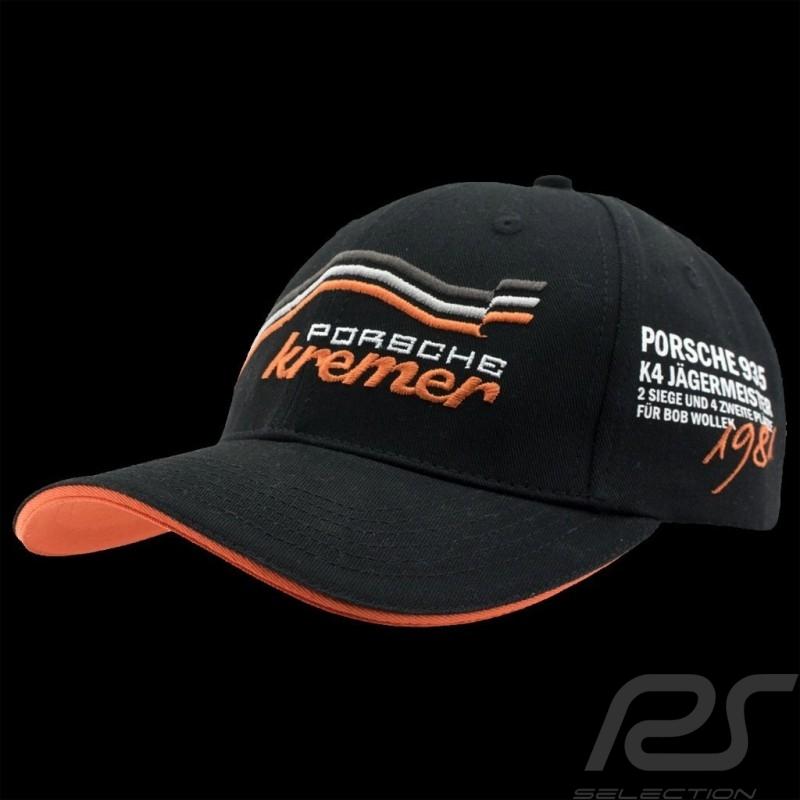 Casquette Porsche Kremer Racing noire / orange Porsche 935 K4 n° 52 hat cap