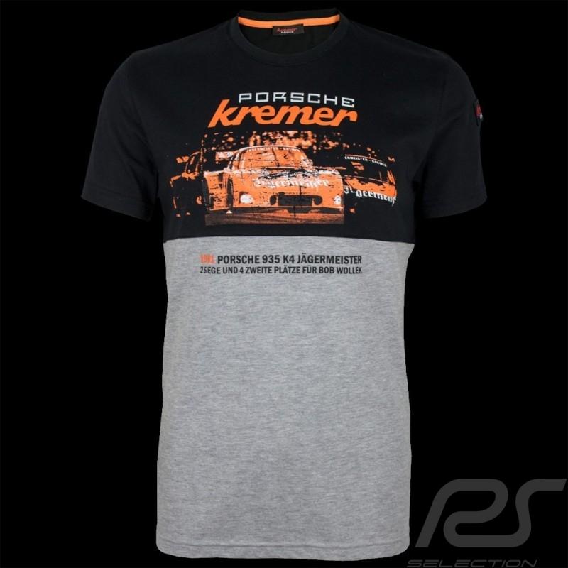 T-shirt Porsche Kremer Racing Porsche 935 K4 n° 52 noir / gris chiné - homme