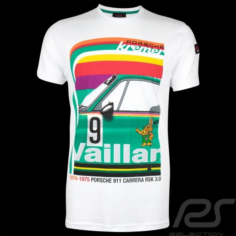 Porsche T-shirt Kremer Racing Porsche 911 Carrera n° 9 Weiß - Herren