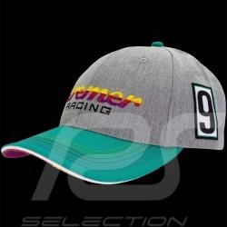 Casquette Hat Cap Kappe Porsche Kremer Racing Porsche 911 Carrera No. 9 grise / verte