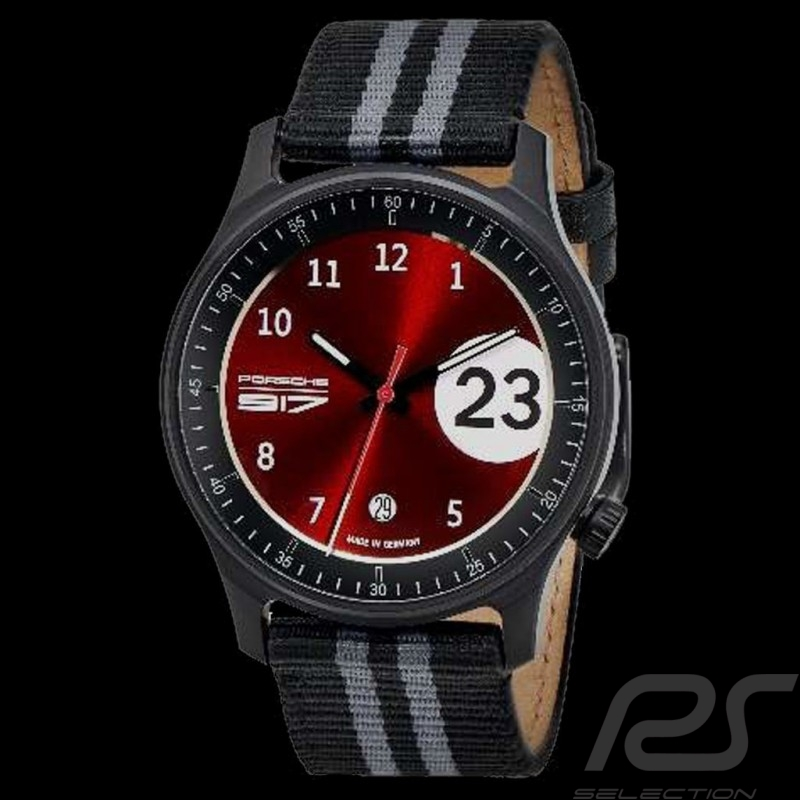 Montre Watch Uhr Porsche 917 Salzburg n° 23 Pure Watch Boitier Argent en Coffret WAP0700030M17