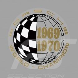 Aufkleber Porsche World Champion 1969-1970 für die Innenseite von Gläsern