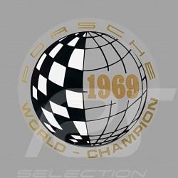 Autocollant Sticker Aufkleber Porsche World Champion 1969 pour l'intérieur de la vitre