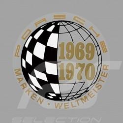 Autocollant Sticker Aufkleber Porsche Marken Weltmeister 1969-1970 pour l'intérieur de la vitre
