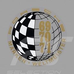 Autocollant Sticker Aufkleber Porsche Marken Weltmeister 69-70-71 pour l'intérieur de la vitre