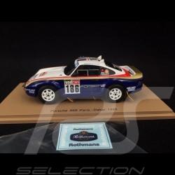 Porsche 959 n° 186 Paris - Dakar 1985 1/43 Spark S7818